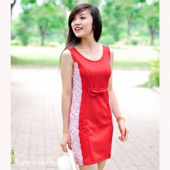 Đầm Đỏ Ôm Ren