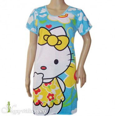 Đầm ngủ họa tiết hoạt hình