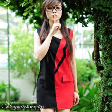 Váy 2 Màu Đen Đỏ