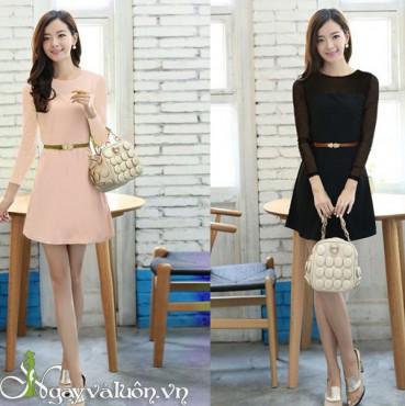 Đầm xòe cao cấp vải boy
