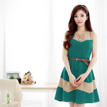 Đầm Xòe Gợn Sóng